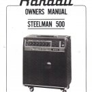 RANDALL INSTRUMENTS INC Owners Manual Schematic STEELMAN 500 Amplifiers Amp