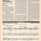 Billy Gibbons ZZ TOP DOUBLEBACK Sheet Music Transcription Transcribed by Dave Whitehill 1990