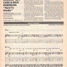 JEFF CASE RICH ROBINSON Black Crowes HARD TO HANDLE Sheet Music Transcription D Whitehill 1990
