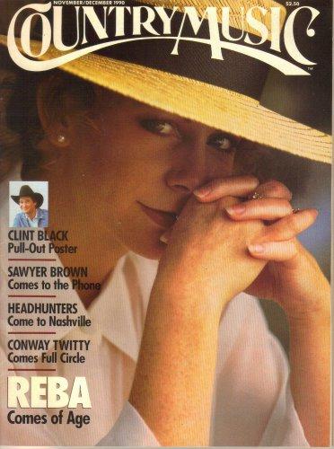 COUNTRY MUSIC November December 1990 REBA MCINTYRE Clint Black Poster SAWYER BROWN Headhunters