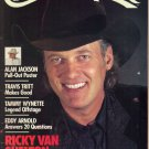 COUNTRY MUSIC September October 1990 Alan Jackson Poster Tammy Wynette Eddy Arnold Ricky Van Shelton