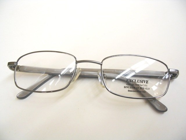 Exclusive 123 Gunmetal eyeglass frame 53-19-140 R$95