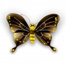 Butterfly Wall Decor Nylon 3D Hanging Art for Girls Bedroom Nursery - Black & Yellow