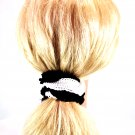 Hair Bands / Ponytail Holders / Scrunchies Crochet Style Fabric 3-pc Set NEW_144-65