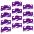 "Hair Claw Clips Large 4-½"" Purple Plastic - Lot of 1 Dozen  _1855x12"