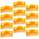 "Hair Claw Clips Large 4-½"" Orange Plastic - Lot of One Dozen _1857x12"