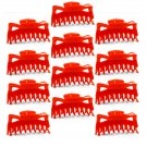 "Hair Claw Clips Large 4-½"" Red Plastic - Lot of One Dozen _1863x12"