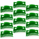 "Hair Claw Clips Large 4.5"" Green Plastic - Lot of One Dozen _1867x12"