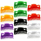 "Hair Claw Clips Large 4.5"" Plastic - Variety Pack of One Dozen _VLGx12"