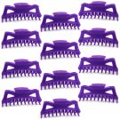 "Hair Claw Clips Extra-Large 5.5"" Purple Plastic - Lot of One Dozen _1856x12"
