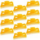 "Hair Claw Clips Extra-Large 5.5"" Orange Plastic - Lot of One Dozen _1858x12"