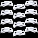 "Hair Claw Clips Extra-Large 5.5"" White Plastic - Lot of One Dozen _1860x12"