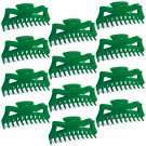 """Hair Claw Clips Extra-Large 5.5"""" Green Plastic - Lot of One Dozen _1868x12"""