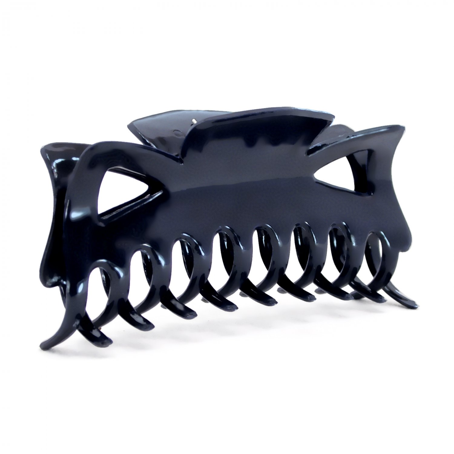 """Hair Claw Clip Large 4.5"""" Navy Blue Plastic Fashion Accessory _144-32"""