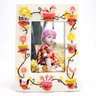 "Picture Frame Flower Garden Theme Ceramic for 3 ½"" x 5"" Photo _2890"