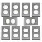 Single Gang PVC Handy Box Covers Duplex Receptacles for Old Work Gray - Lot of 10 _276-03