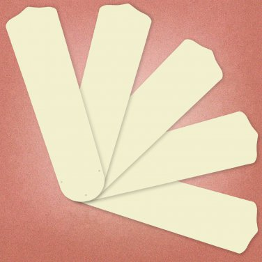 "Replacement Blades for 52"" Ceiling Fan Ivory Finish 5-pack _236-B89"
