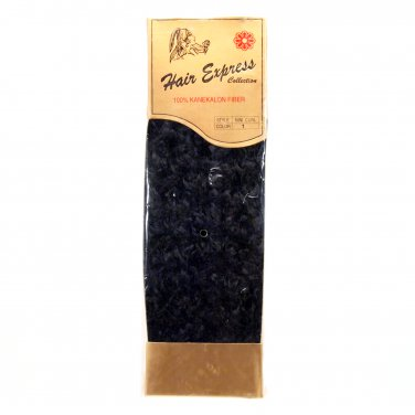 Shake & Go Hair Weave 16-inch Extension 100% Kanekalon Fiber Nini Curl #1 Black _144-03A