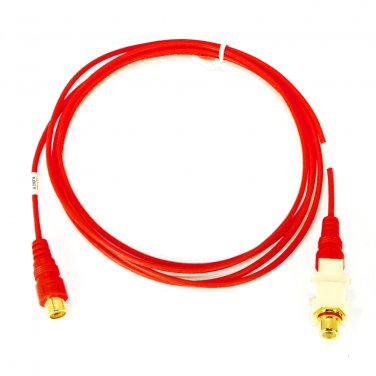 6' Red Coaxial RCA Audio Cable Altinex CM11303 Gold-Plated F/M Connects with Snap-In Coupler _22-002