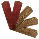 "Replacement Blades for 52"" Ceiling Fan Reversible Mahogany / Dark Oak 5-pack _328-B01"