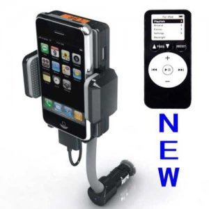 FM Transmitter and Car Charger with remote for APPLE iPhone 4 s 4G 4s 3GS 3G iPod TOUCH SHUFFLE