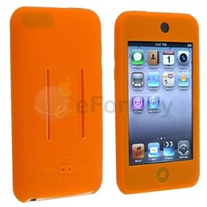 Orange Silicone Soft Skin Case Cover for Apple iPod Touch iTouch 2 2G 1ST 3 3G GEN NEW