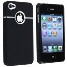 Deluxe black cover with chrome carrying CASE for apple IPHONE 4 G 4G 4S verizon AT&t CELLPHONES