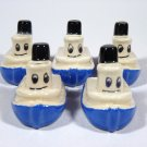 Vintage Tugboat Birthday Cake Candle Holders
