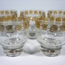 Vintage Cocktail Glasses Etched