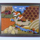 Vintage Needlepoint Scene Framed