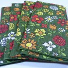 Vintage Flowered Napkin Set