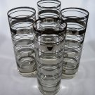 Vintage Silver Striped Tom Collins Glasses