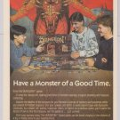 Dungeon board game PRINT AD fantasy TSR advertisement '80s 1989