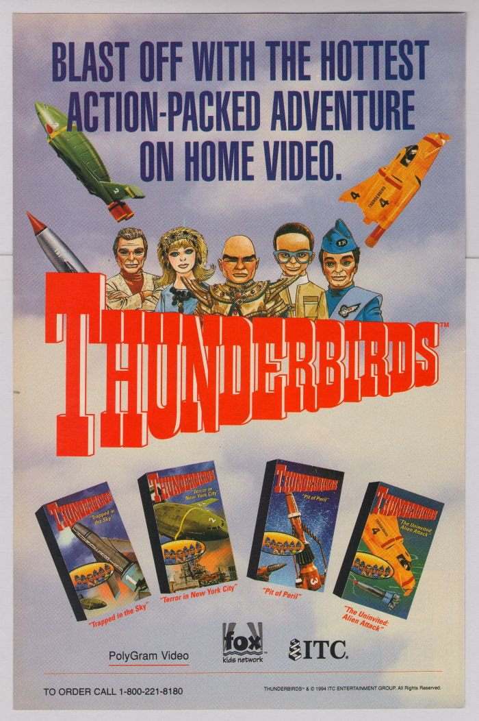 Thunderbirds PRINT AD British TV supermarionation Gerry Anderson advertisement '90s 1994