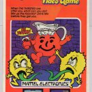 Kool-Aid Man video game PRINT AD Mattel cartridge advertisement '80s 1983