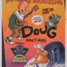 ABC Saturday PRINT AD television MIGHTY DUCKS Doug animation TV 1990s