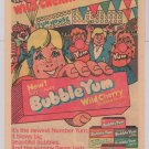 Bubble Yum Wild Cherry PRINT AD chewing gum '80s vintage advertisement 1980