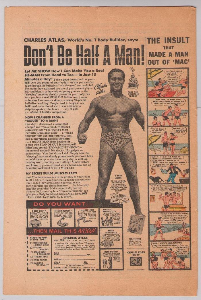 Charles Atlas PRINT AD bodybuilder '70s vintage comic book advertisement 1973