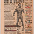 Charles Atlas PRINT AD bodybuilder '70s vintage comic book advertisement 1973