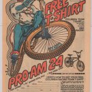 Columbia Pro Am 24 BMX Racer PRINT AD bike t-shirt offer '80s advertisement 1982