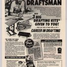 Be a Draftsman PRINT AD North American School of Drafting vintage advertisement 1980