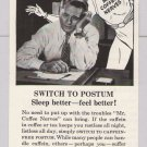 Postum Mr. Coffee Nerves PRINT AD no caffeine '50s vintage advertisement General Foods 1953