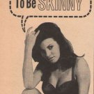 RAQUEL WELCH Wate-On PRINT AD Don't Be Skinny! weight gain '60s advertisement 1965