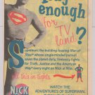Superman George Reeves Nick at Nite PRINT AD classic TV show '90s television advertisement 1991