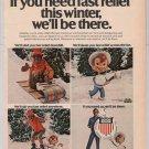 Alka-Seltzer PRINT AD Sammy Davis Jr WINTER OLYMPICS advertisement Speedy 1980