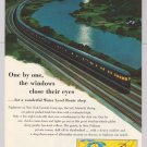 New York Central '50s PRINT AD train Water Level Route transportation 1953