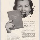 Bell Telephone &#39;50s PRINT AD operator vintage advertisement 1953