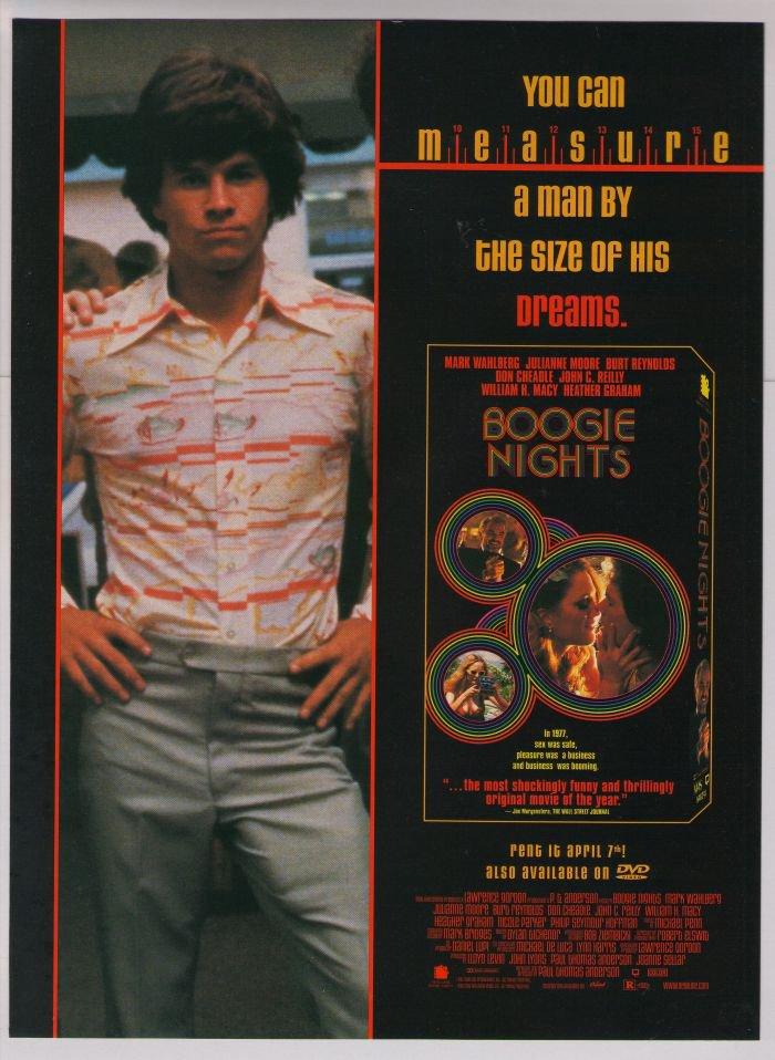 Boogie Nights Mark Wahlberg VHS movie '90s PRINT AD advertisement 1997