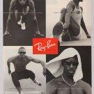 Ray-Ban Olympics 1996 PRINT AD Michael Johnson JACKIE JOYNER-KERSEE sunglasses '90s