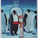 Smirnoff vodka '90s PRINT AD penguins tuxedo advertisement 1994
